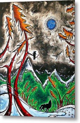 Forever Wild Original Madart Painting Metal Print by Megan Duncanson