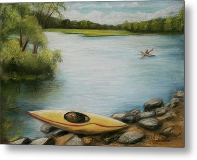 Metal Print featuring the painting Forge Pond by Melinda Saminski