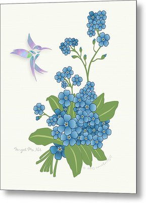 Forget Me Not Flower Metal Print by Gayle Odsather