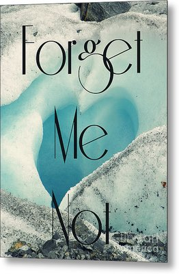 Forget Me Not Metal Print by Jennifer Kimberly