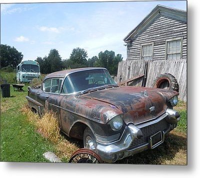 Forgotten Cadillac Metal Print by James Guentner