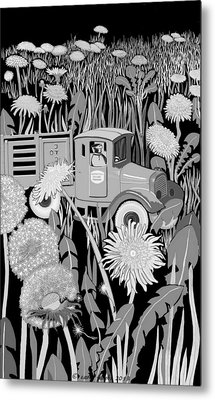 Metal Print featuring the drawing Forgotten by Carol Jacobs