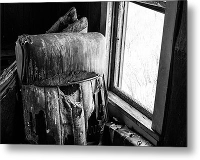 Forgotten Chair By The Window Metal Print by Nathan Hillis
