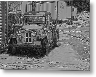 Metal Print featuring the pyrography Forgotten Classic Truck by Timothy Latta