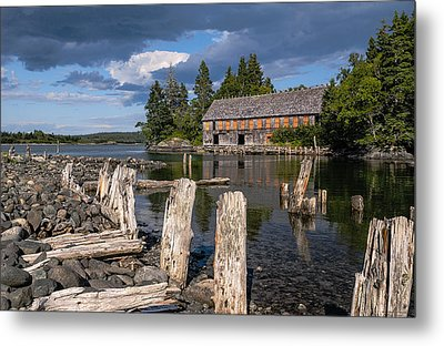 Forgotten Downeast Smokehouse Metal Print by Marty Saccone