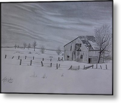 Forgotten In The Snow Metal Print