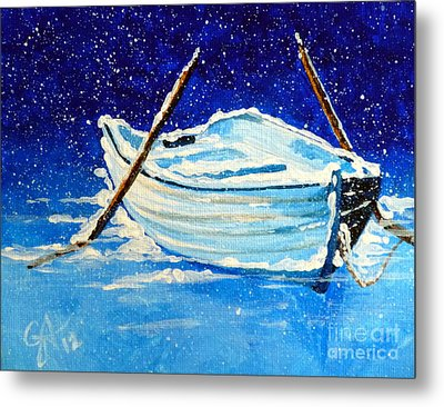 Forgotten Rowboat Metal Print by Jackie Carpenter