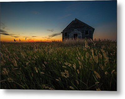 Forgotten On The Prairie Metal Print by Aaron J Groen
