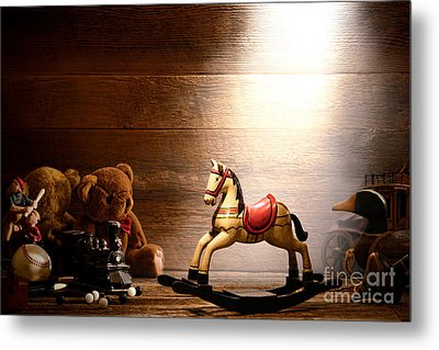 Forgotten Toys Metal Print by Olivier Le Queinec