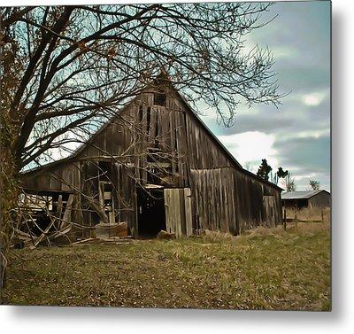Forlorn Barn Metal Print by Greg Jackson