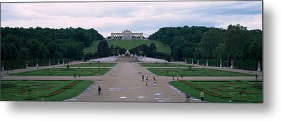 Formal Garden In Front Of A Palace Metal Print