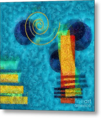 Formes 02b Metal Print by Variance Collections