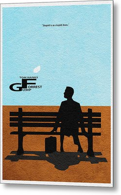 Forrest Gump Metal Print by Ayse Deniz