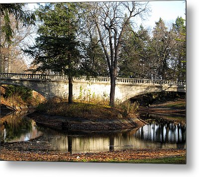 Forrest Home Bridge Metal Print by Kimberly Mackowski