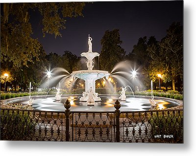 Forsyth Fountain Metal Print