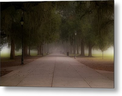 Metal Print featuring the photograph Forsyth Park Pathway by Frank Bright