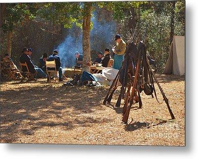 Fort Anderson Civil War Re Enactment 4 Metal Print by Jocelyn Stephenson