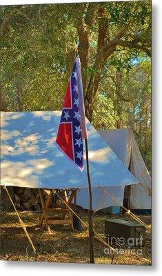 Confederate Encampment At Fort Anderson  Metal Print by Jocelyn Stephenson