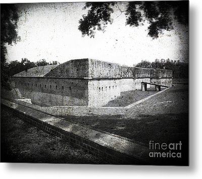 Fort Barrancas Faux Civil War Era Photograph Metal Print
