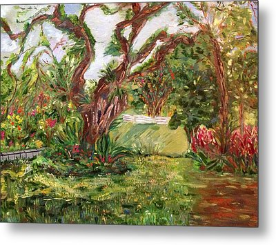 Metal Print featuring the painting Fort Canning Wonderland by Belinda Low