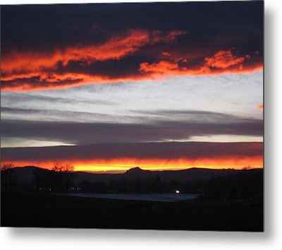 Fort Collins Co Sunset In February Metal Print