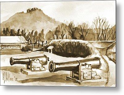 Fort Davidson Cannon Iv Metal Print by Kip DeVore