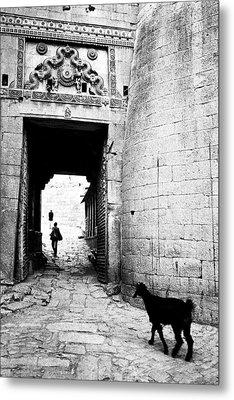 Fort Entrance Gate Metal Print by Jagdish Agarwal