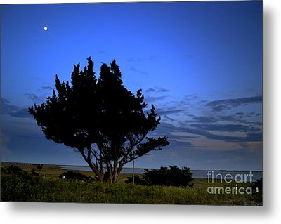 Fort Fisher Moonrise  Metal Print