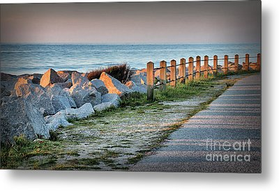 Fort Fisher Rocks At  Sunrise Metal Print by Phil Mancuso