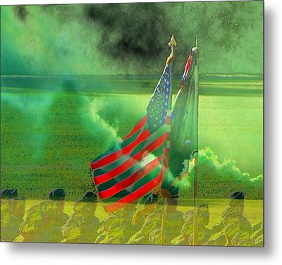 Fort Jackson Ceremony Metal Print