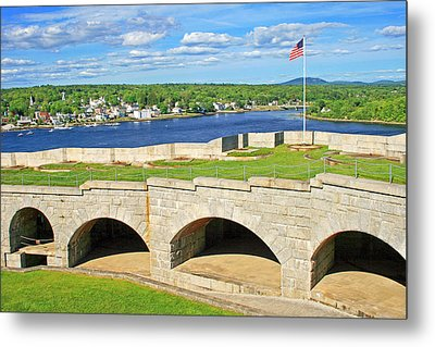 Fort Knox In Maine Metal Print