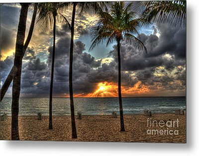 Fort Lauderdale Beach Florida - Sunrise Metal Print by Timothy Lowry