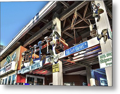 Metal Print featuring the photograph Fort Myers Beach Florida Motel by Timothy Lowry
