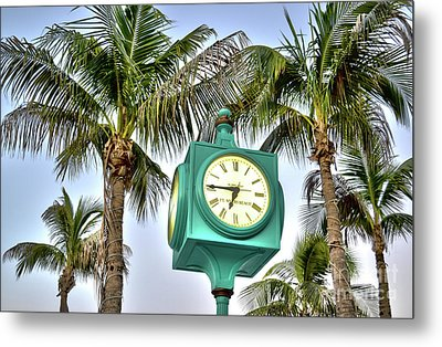 Fort Myers Beach Florida Times Square 3 Metal Print by Timothy Lowry