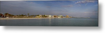 Fort Myers Beach Panorama Metal Print by Anne Rodkin