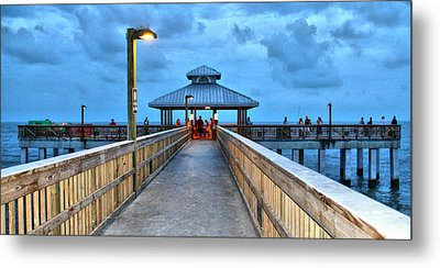 Metal Print featuring the photograph Fort Myers Beach Pier by Rosemary Aubut