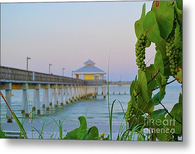 Metal Print featuring the photograph Fort Myers Beach Pier by Timothy Lowry