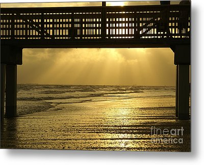 Fort Myers Golden Sunset Metal Print by Jennifer White