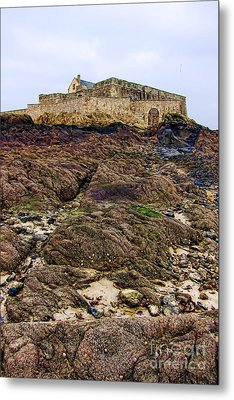 Fort National In Saint Malo Brittany Metal Print by Olivier Le Queinec
