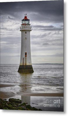 Fort Perch Lighthouse Metal Print by Spikey Mouse Photography