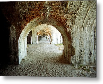 Metal Print featuring the photograph Fort Pickens Arches by Tom Brickhouse