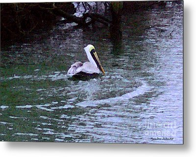 Metal Print featuring the photograph Fort Pierce Pelican by Megan Dirsa-DuBois