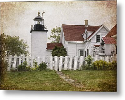 Fort Point Lighthouse Metal Print by Joan Carroll