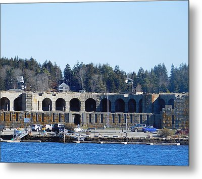 Fort Popham In Maine Metal Print by Catherine Gagne
