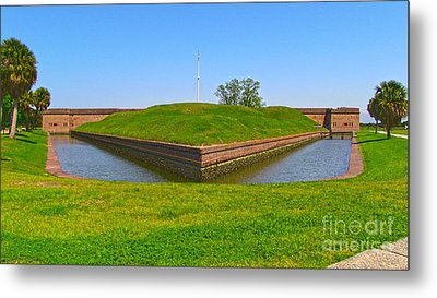 Fort Pulaski Moat System Metal Print by D Wallace