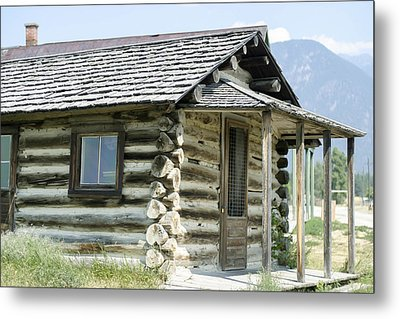Metal Print featuring the photograph Fort Steele Cabin by Margaret Buchanan
