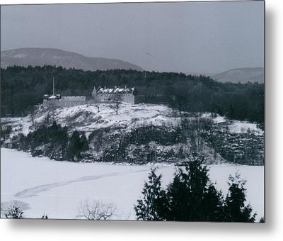 Fort Ticonderoga From Mount Independence Metal Print by David Fiske