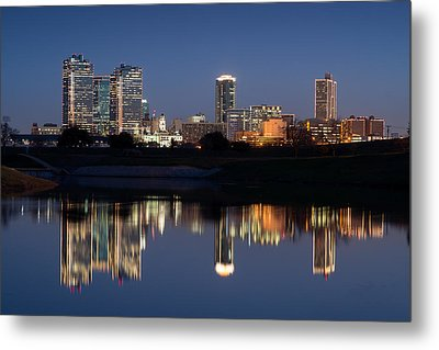 Fort Worth Skyline 020915 Metal Print