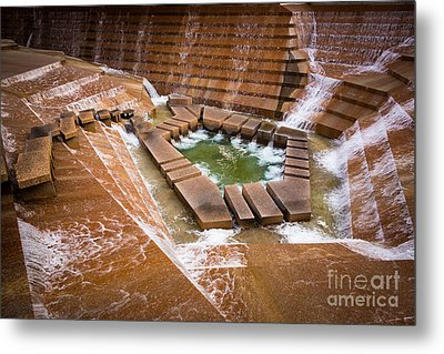 Fort Worth Water Gardens Metal Print by Inge Johnsson