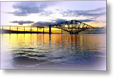 Forth Rail Bridge At Sunset Metal Print by The Creative Minds Art and Photography